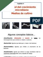 Capítulo 4 Control del crecimiento microbiano y medios de cultivo