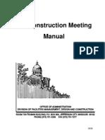 Pre-Construction Meeting Manual
