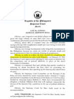 A.m. No. 12-8-8-Sc Judicial Affidavit