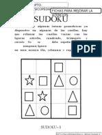 Sudokus 4x4 figuras geométricas fichas 1 a 20