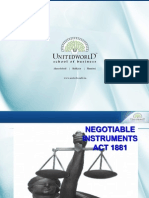 Negotiable Instruments Act Presentation - Unitedworld School of Business
