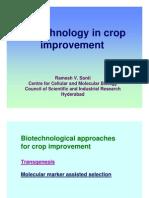Biotechnology in Crop Improvement by Ramesh Sonti