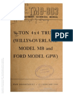 TM 9-803 WILLYS-OVERLAND MODEL MB AND FORD GPW, 1944