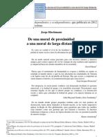 De Una Moral de Proximidad a Una Moral de Larga Distancia j. Riechmann 2012