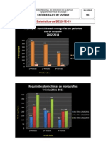 estatística da BE 2013