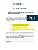 Alkalinity Control