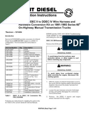 detroit diesel series 60 ddec ii to ddec iv conversion 18sp546 6V92 Turbo