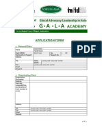 GALAAcademy2013 Annex1 ApplicationForm