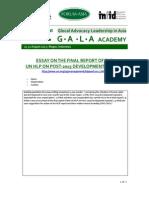 GALAAcademy2013 Annex3 Essay