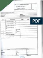Format for Density of Aggregates