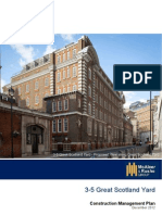 3-5 Great Scotland Yard, Westminster ~ Construction Management Plan 2012