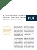 Santiago Quesada - El Paisaje Invisible de La Arquitectura