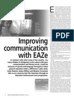 Improving communication with EAZe.