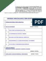 Criterios de Evaluacion de Programaciones Didacticas