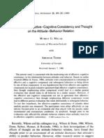 Affective Cognitive Consistency