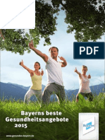Gesundes Bayern Angebotsbroschüre 2015
