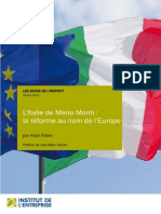 L'Italie de Mario Monti