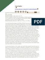 Matei Calinescu Recitind Jurnalul Portughez
