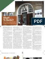 Aliyah Le Berlin- Baltimore Jewish Times & Washington Jewish Week Coverage
