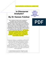 What is Discourse Analysis - Dr. Eamon Fulcher Webpage