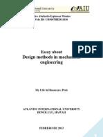 Design Methods in Mechanical Engineering