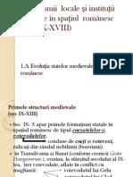 Autonomii locale și instituții centrale în spațiul românesc (1)