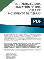 CRITERIOS GENERALES PARA LA ORGANIZACIÓN DE UNA OBRA