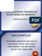 Perkembangan Pendidikan Islam Selepas Merdeka