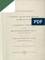 Dodwell 1834 (Pelasgi in Grecia e in Italia)