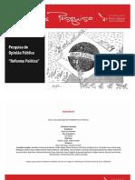FPA lança pesquisa de opinião pública sobre Reforma Política - parte 1