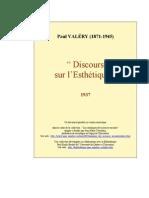 VALERY Discours Sur Lesthetique