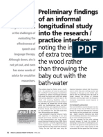 Preliminary findings of an informal longitudinal study into the research/practice interface
