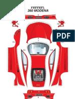 [Paper Model] [Auto] Ferrari 360 Modena