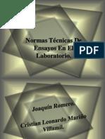 Normas Técnicas De Ensayos En El Laboratorio