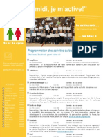 Dépliant publicitaire Activités Mercredis PM Bloc 1 2e et 3e cycle 2013 2014