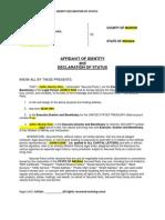 Affidavit of Idenity Template