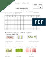 prueba multiplicaciones 3°
