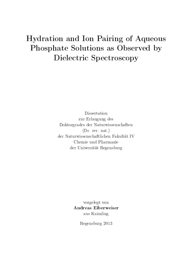 hydrogen ion pairing dielectric permittivity