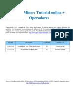 RapidMiner Tutorial Online Operadores