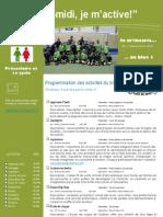 Dépliant publicitaire Activités Mercredis PM Bloc 1 Préscolaire et 1e cycle 2013 2014