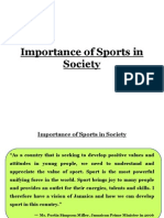 Importance of Sports in Society