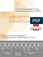 MANAGING CHEMICAL SUPPLY CHAIN