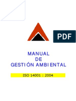 Manual Gestion Ambiental ISO 14001 Del 2004