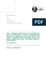 Octavio Villeda 09194018 Etica y Liderazgo Trabajo