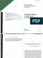 Presidencialismo y democracia en América Latina