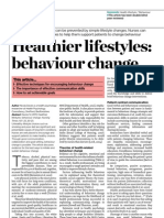 Healthier Lifestyle, Behaviour Change