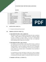 INFORME PSICOLÓGICO DEL TEST DE FABULAS DE DUSS