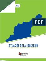 Situacion de La Educacion en El Caribe Colombiano