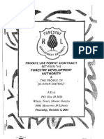 Pivate Use Permit Between Forestry Development Authority and the People of Jo-River District, Rivercess County October 6, 2011