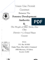 Private Use Permit Between Forestry Development Authority and the People of Zaye Town, Doe Clan District _ 1 Grand Bassa County December 17, 2010